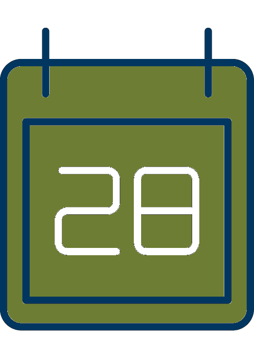 icon of an events calendar