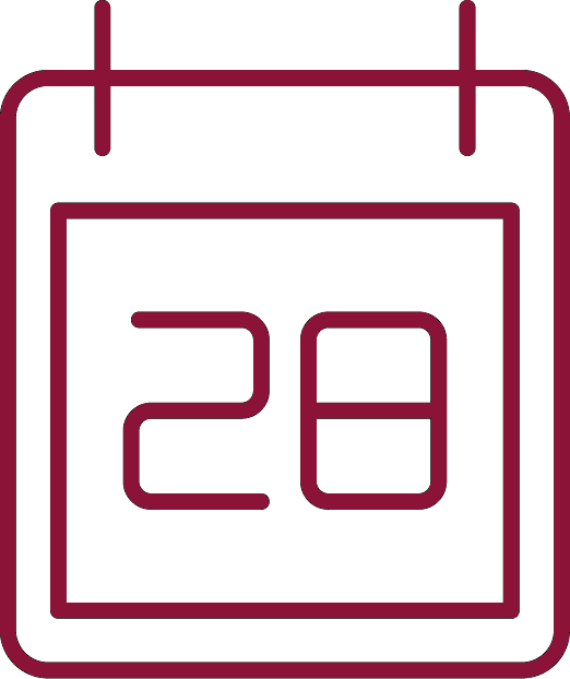 calendar icon for communications + arts events