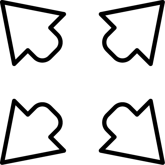 Four arrows icon