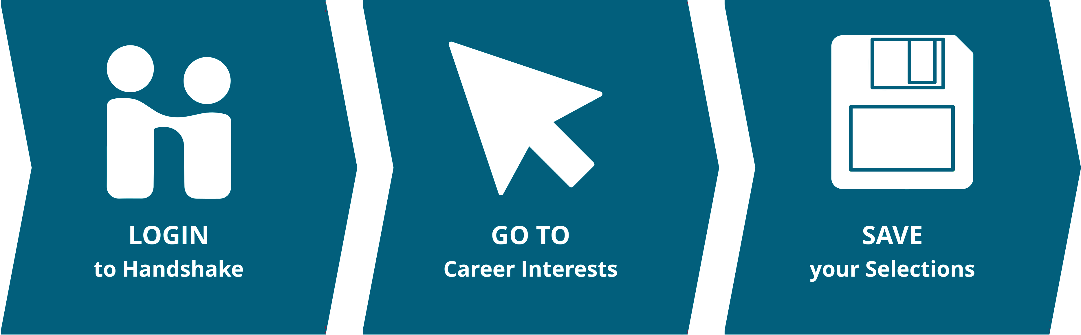 Login to Handshake, Go to Career Interests, Save Your Selections