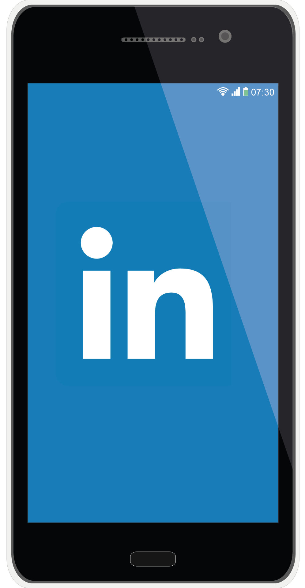 illustration of a mobile phone with LinkedIn