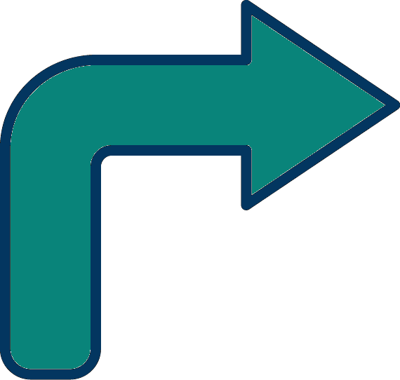 icon of arrow facing to the right