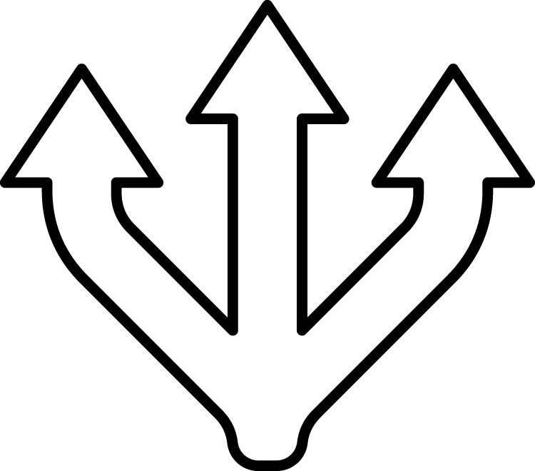 Three arrows icon