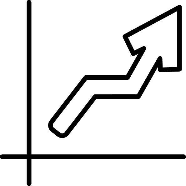 Upward trend icon