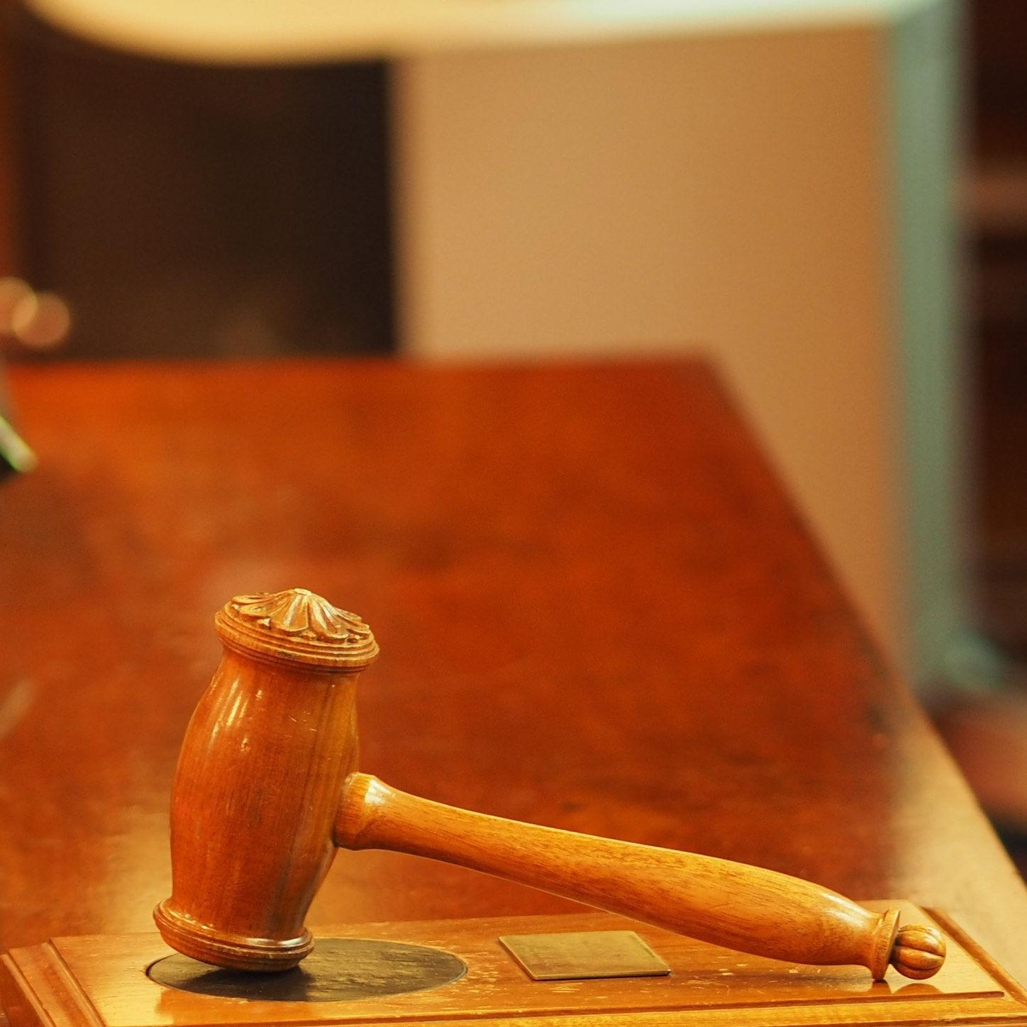 photo of gavel for law + government events