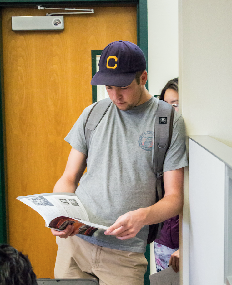 photo of student reading for majors and beyond at UCSB