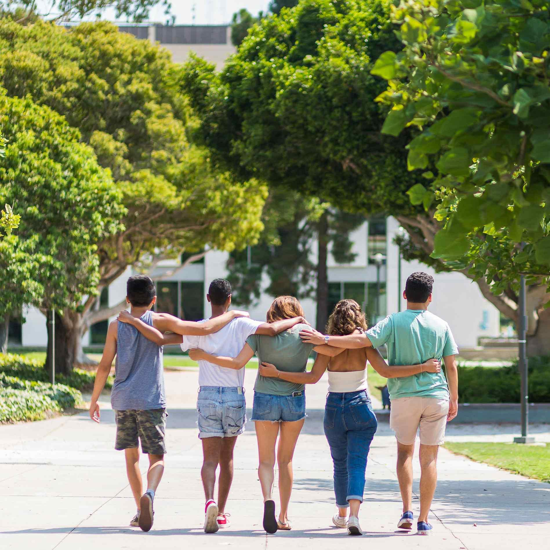 photo of UCSB students walking together for communities
